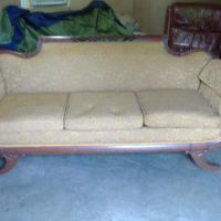 Antique Duncan Phyfe Sofa, Two Antique Chairs