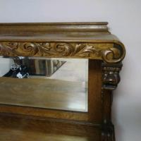 Upper Shelf with Carvings and Mirror