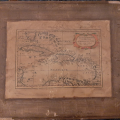 Old engraved facsimile of a 17th-century map of the Caribbean