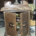 Antique Jewish religion box from wood